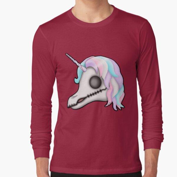 My Little Dead Unicorn | Unicorn Skull | Pastel Rainbow Long Sleeve T-Shirt