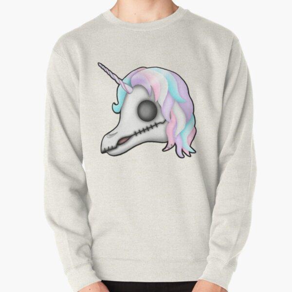My Little Dead Unicorn   Unicorn Skull   Pastel Rainbow Pullover Sweatshirt