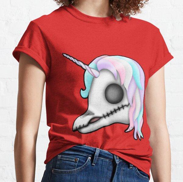 My Little Dead Unicorn   Unicorn Skull   Pastel Rainbow Classic T-Shirt