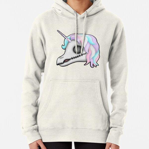 My Little Dead Unicorn | Unicorn Skull | Pastel Rainbow Pullover Hoodie
