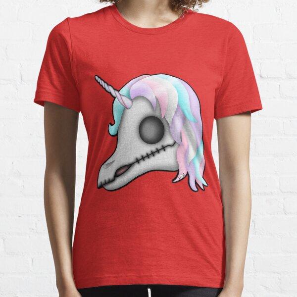My Little Dead Unicorn   Unicorn Skull   Pastel Rainbow Essential T-Shirt