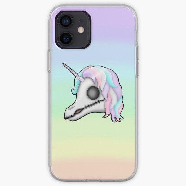 My Little Dead Unicorn | Unicorn Skull | Pastel Rainbow iPhone Soft Case