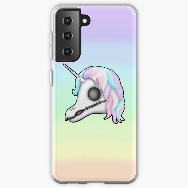 My Little Dead Unicorn   Unicorn Skull   Pastel Rainbow Samsung Galaxy Soft Case