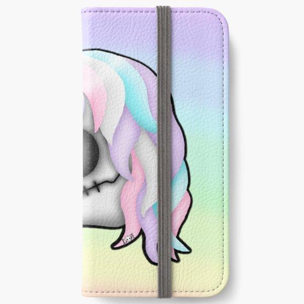 My Little Dead Unicorn | Unicorn Skull | Pastel Rainbow iPhone Wallet