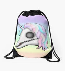 My Little Dead Unicorn | Unicorn Skull | Pastel Rainbow Drawstring Bag