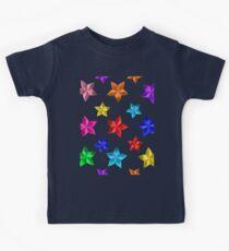 colorful paper stars pattern  Kids Tee