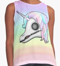 My Little Dead Unicorn | Unicorn Skull | Pastel Rainbow Sleeveless Top