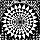 Flower-of-Life sacred Geometry Black-White by Cveta
