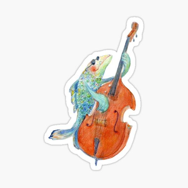 Famous underwater bass player Sticker