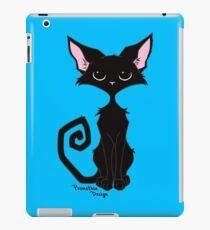 Black Cat - Cool Blue iPad Case/Skin
