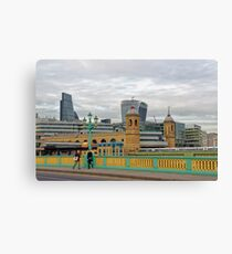 Crossing Bridges, London, United Kingdom Canvas Print