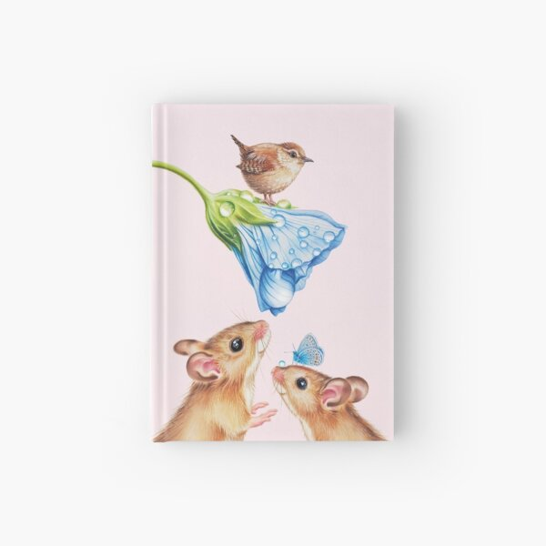 Cute mice by Maria Tiqwah Hardcover Journal