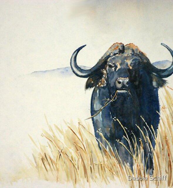 Buffalo in the Veld by Debbie Schiff