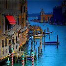 Red Awning in Venice by Jerri Johnson