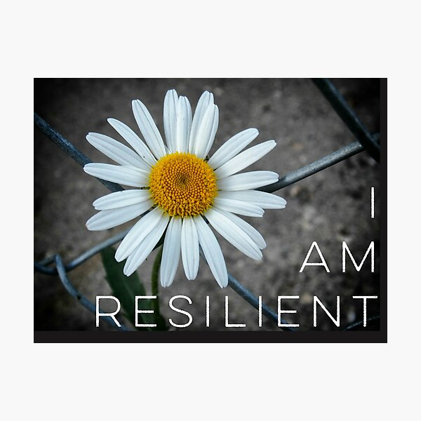 Daisy -  I Am Resilient Photographic Print