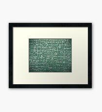 Mathlete Geek Formulas Framed Print