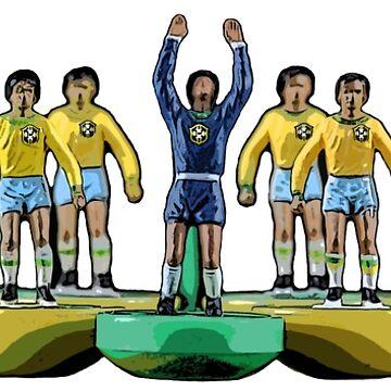 Brazil football subbuteo team. by vancey73