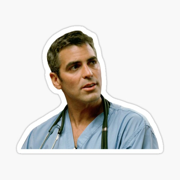 ER Doug Ross George Clooney Sticker
