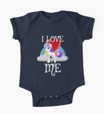 I Love Me for People or yourself Shirt Unicorn Rainbow Gift One Piece - Short Sleeve