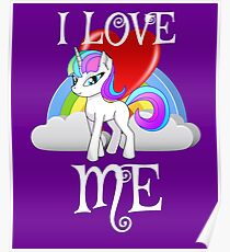 I Love Me for People or yourself Shirt Unicorn Rainbow Gift Poster