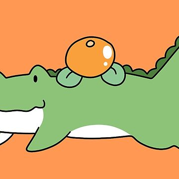 Orange Fruit Alligator  by SaradaBoru
