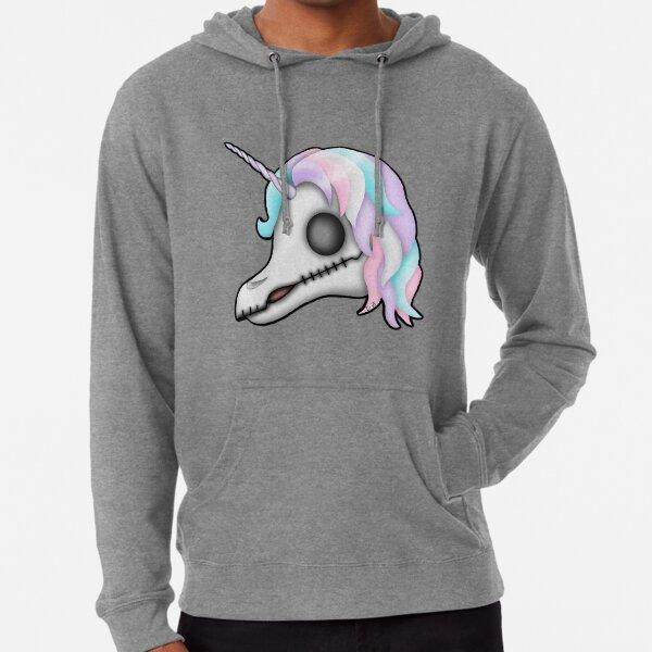 My Little Dead Unicorn | Rainbow Unicorn Skull | White Lightweight Hoodie