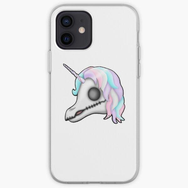 My Little Dead Unicorn | Rainbow Unicorn Skull | White iPhone Soft Case