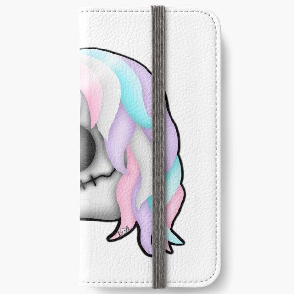 My Little Dead Unicorn | Rainbow Unicorn Skull | White iPhone Wallet