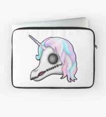 My Little Dead Unicorn | Rainbow Unicorn Skull | White Laptop Sleeve