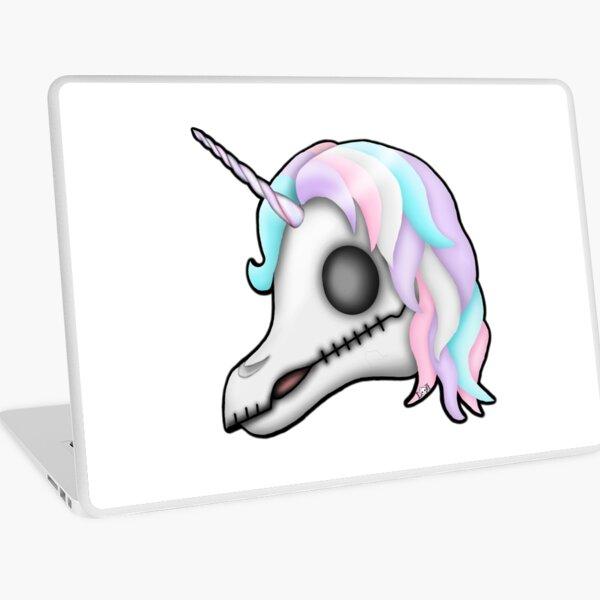My Little Dead Unicorn   Rainbow Unicorn Skull   White Laptop Skin