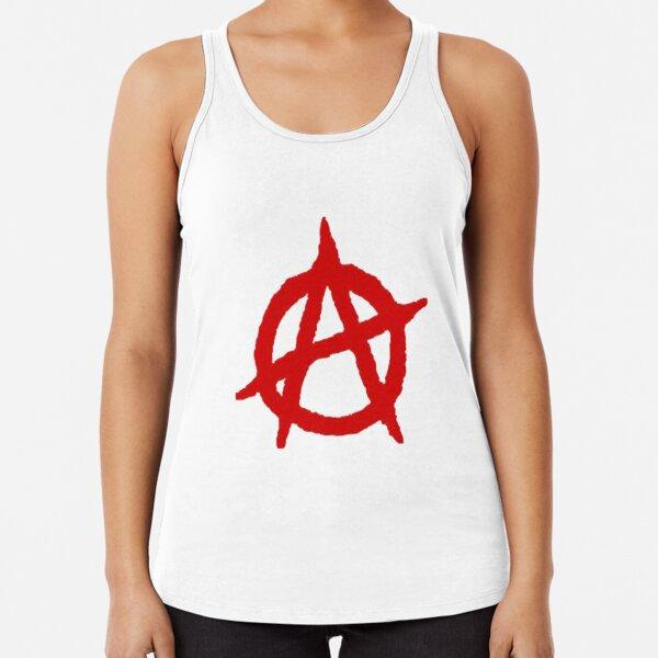 Resistance Anarchy Symbol Women/'s Vest Tank Top Anarchist Punk T-Shirt