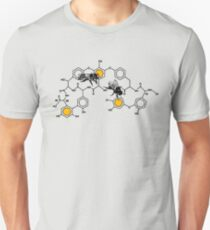 Bees making honey on macromolecular structure as a bee house  T-Shirt
