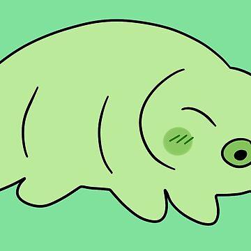 Green Waterbear  by SaradaBoru