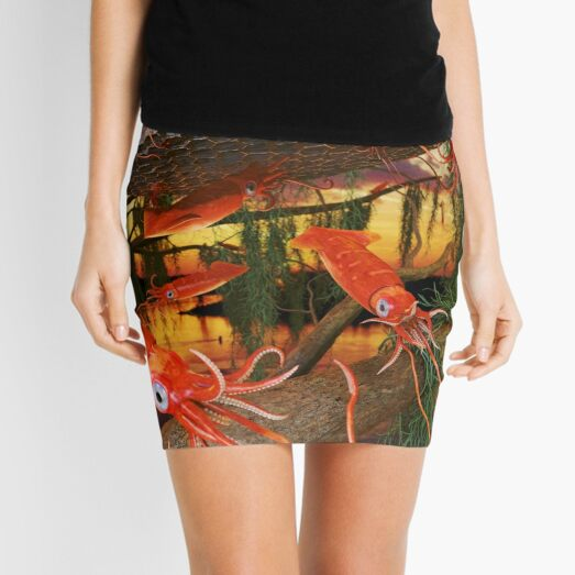Ocean Invasion #8: Tending the Squid Hive Mini Skirt