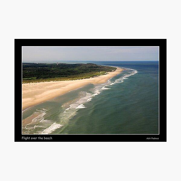 Flight over the beach Photographic Print