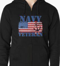U.S. Navy Veteran Tee Shirts Zipped Hoodie
