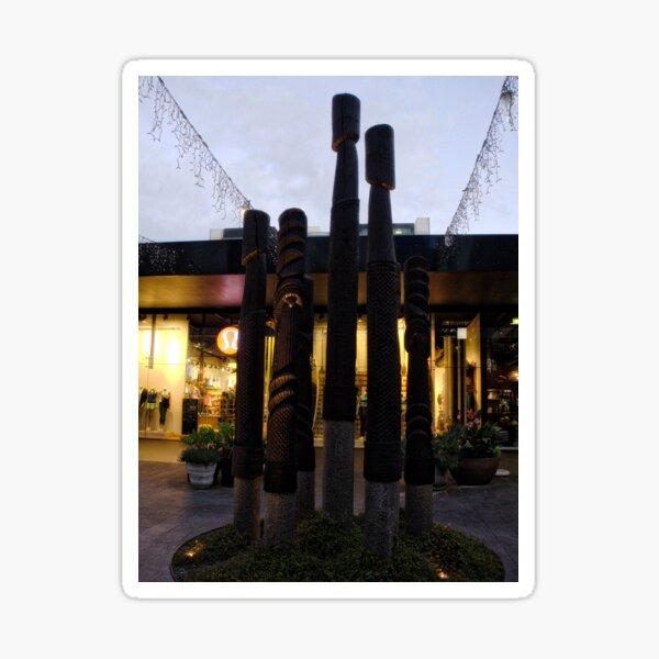Courtyard Garden Posts Sticker