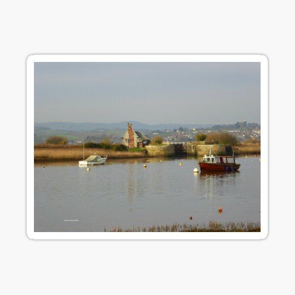 Soft and Calm,  Estuary in Topsham Sticker