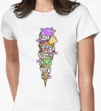 Ice Cream For Dinner Club Women's Fitted T-Shirt