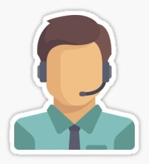 Customer Service Sticker