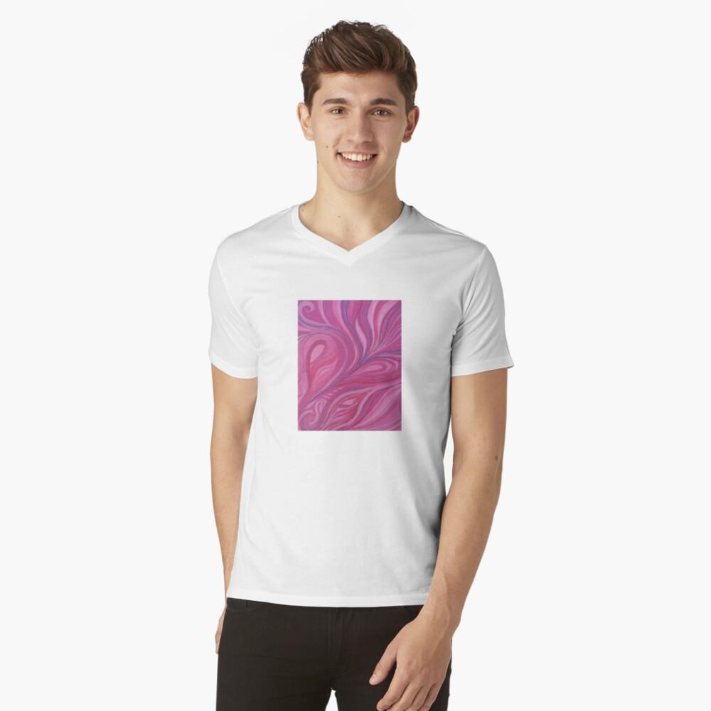 Rosado Camiseta de cuello en V