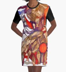 Fish and Ships Graphic T-Shirt Dress