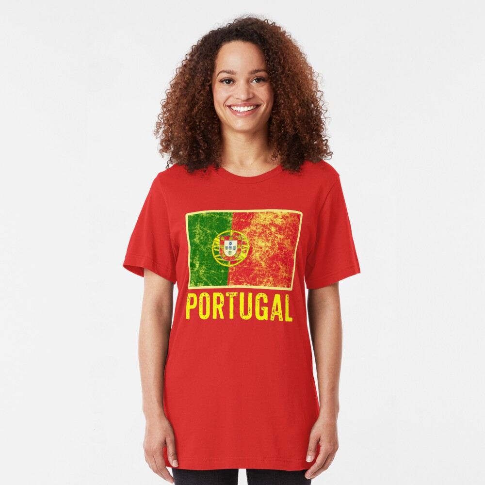 Portugal Flag Love Portuguese Pride Patriot  Slim Fit T-Shirt
