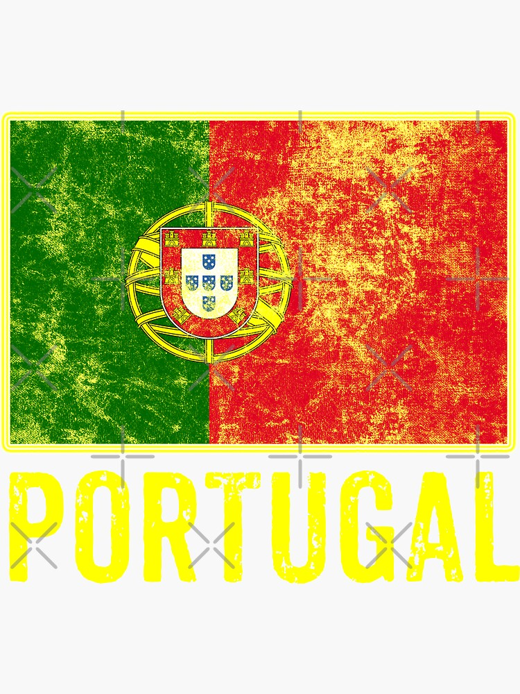 Portugal Flag Love Portuguese Pride Patriot Vintage Distressed Flag Design by thespottydogg