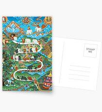 Stages of Meditation, Elephant Eastern Art Postcards