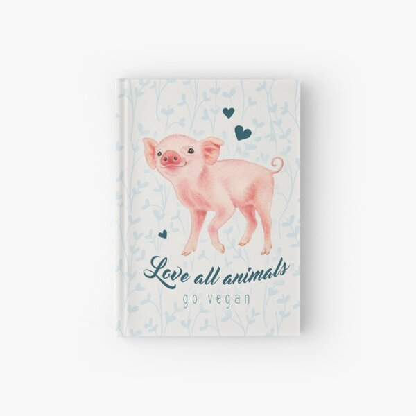 Smiling piglet by Maria Tiqwah Hardcover Journal