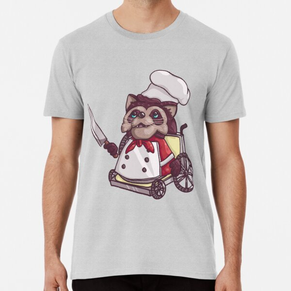Overcooked Wheelchair Raccoon Chef Premium T-Shirt