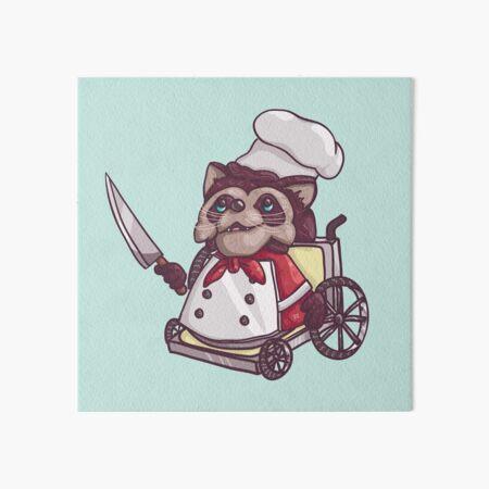 Overcooked Wheelchair Raccoon Chef Art Board Print