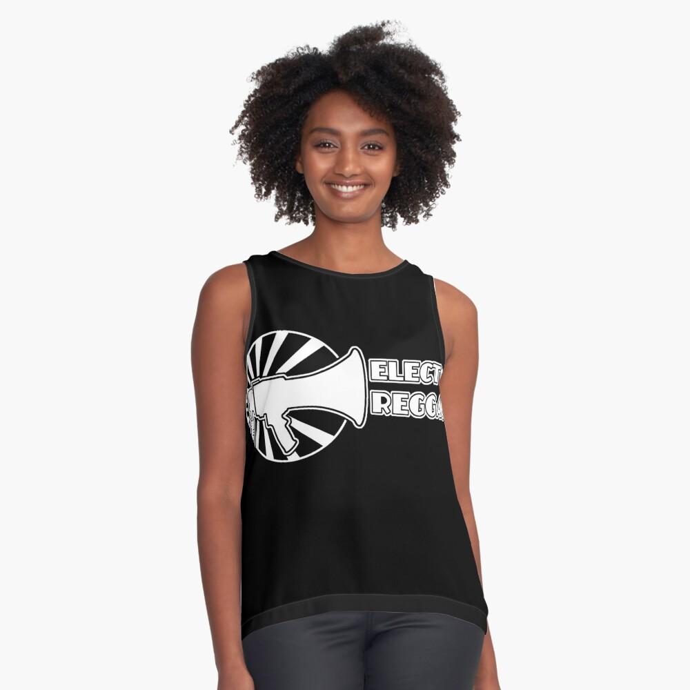 Electro Reggae Logo - White Sleeveless Top