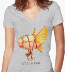 Steampug Women's Fitted V-Neck T-Shirt